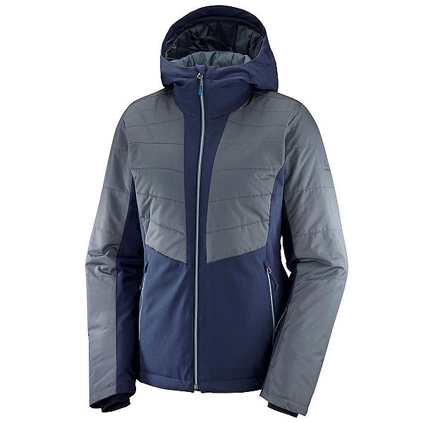 Salomon Stormfluff Womens Insulated Ski Jacket, Night Sky-Ebony, 600