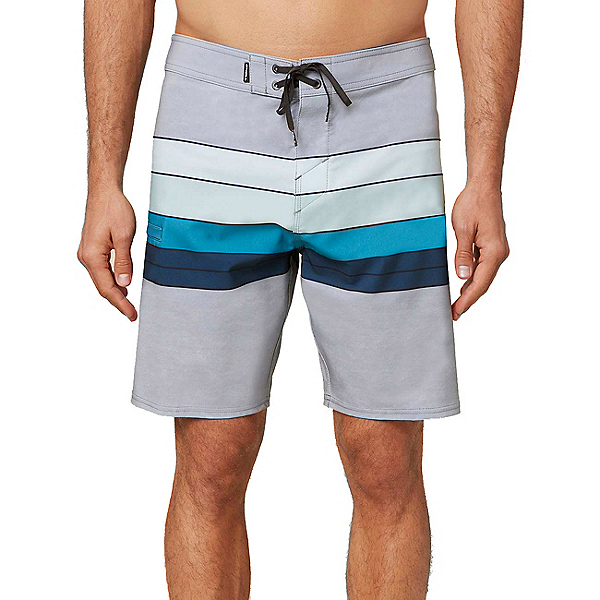 O'Neill Hyperfreak Heist Line Mens Board Shorts 2020, Light Grey, 600