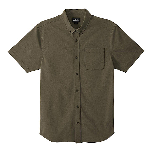O'Neill Stockton Hybrid Short Sleeve Mens Shirt 2020, Army, 600