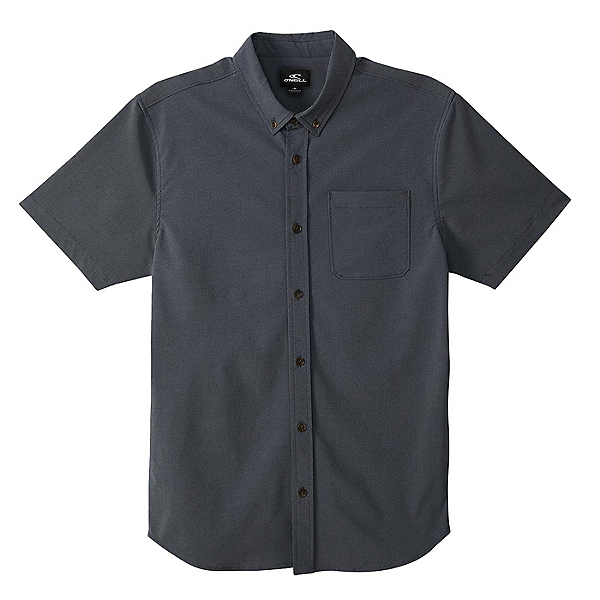 O'Neill Stockton Hybrid Short Sleeve Mens Shirt, Navy, 600