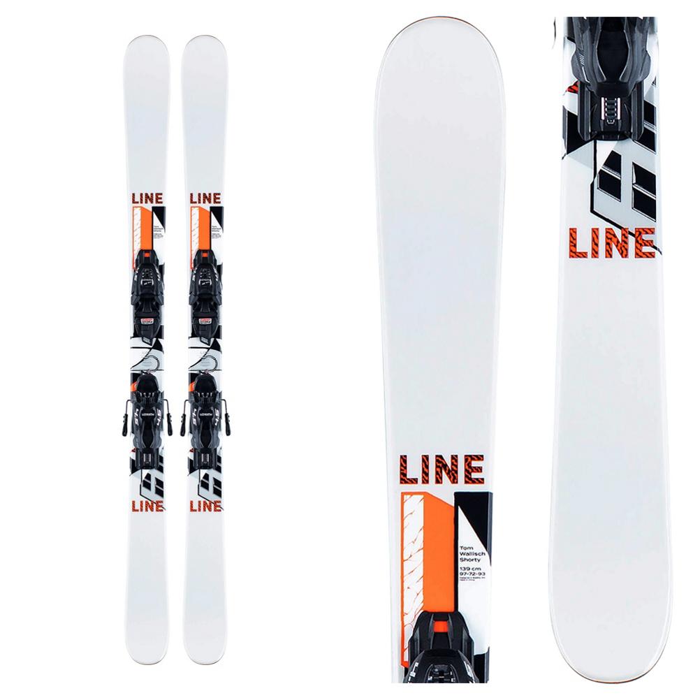 Line Tom Wallisch Shorty Kids Skis with Marker FDT 4.5 Bindings
