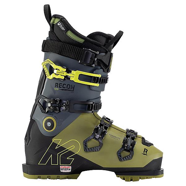 K2 Recon 120 MV Heat Ski Boots, Green-Black, 600