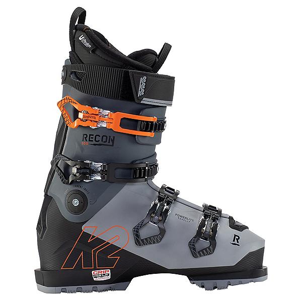 K2 Recon 100 MV Ski Boots, Grey-Black-Orange, 600