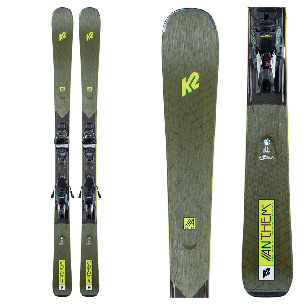 K2 Anthem 80 Womens Skis with ERC 11 TCx Bindings