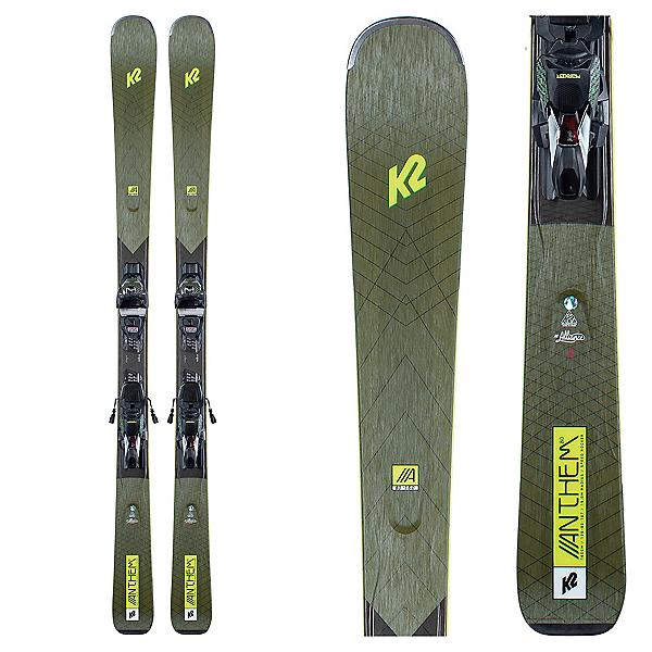 K2 Anthem 80 Womens Skis with ERC 11 TCx Bindings, , 600