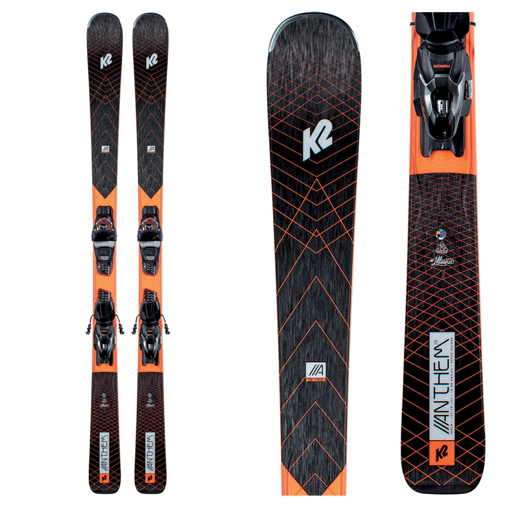 K2 Anthem 78 Womens Skis with ER3 10 Bindings