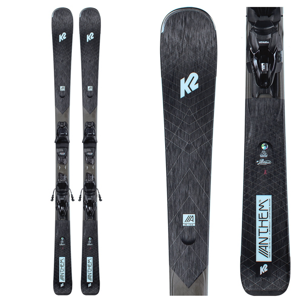 K2 Anthem 76 Womens Skis with ERP 10 Bindings