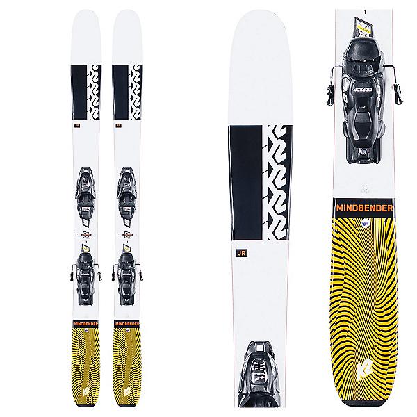 K2 Mindbender Jr. 4.5 Kids Skis with FDT Jr 4.5 Bindings 2021, , 600