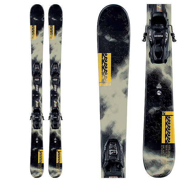 K2 Poacher Jr. Kids Skis with FDT Jr 4.5 Bindings, , 600