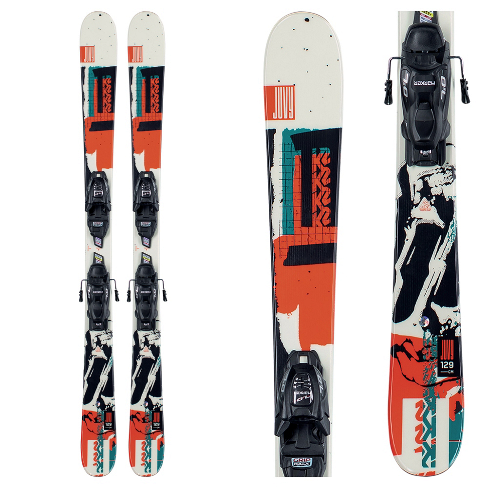 K2 Juvy 4.5 Kids Skis with FDT Jr 4.5 Bindings