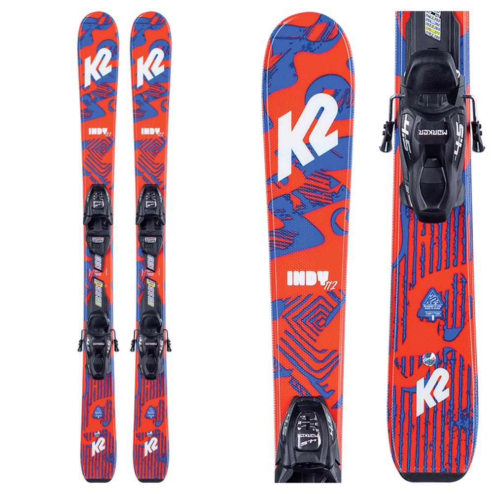 K2 Indy Kids Skis with FDT Jr 4.5 Bindings