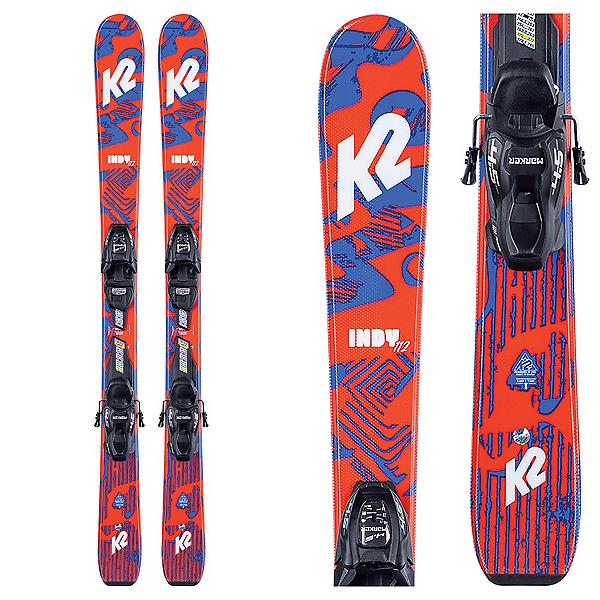 K2 Indy 4.5 Kids Skis with FDT Jr 4.5 Bindings 2021, , 600