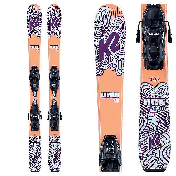 K2 Luv Bug 7.0 Kids Skis with FDT Jr 7.0 Bindings 2021, , 600