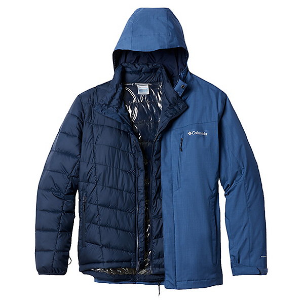 Columbia Whirlibird IV Interchange - Tall Mens Insulated Ski Jacket 2021, Night Tide Melange, 600