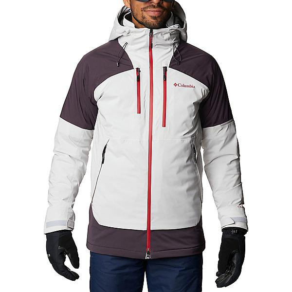 Columbia Wild Card Mens Insulated Ski Jacket 2021, Nimbus Grey-Dark Purple, 600