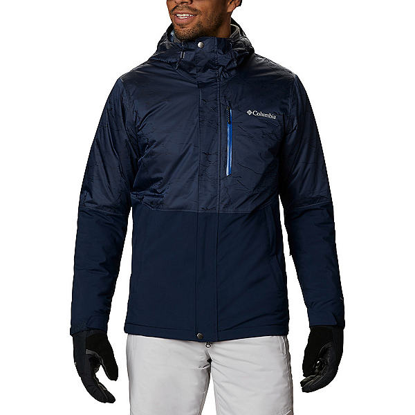 Columbia Winter District Mens Insulated Ski Jacket 2021, Collegiate Navy-Collegiate Nav, 600