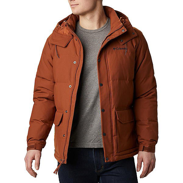 Columbia Rockfall Down Mens Jacket 2021, Dark Amber-Canvas, 600