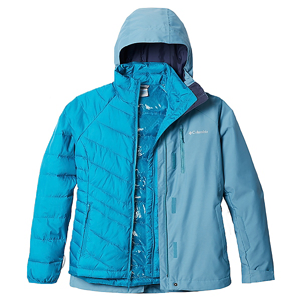 Columbia Whirlibird IV Interchange - Plus Womens Insulated Ski Jacket 2021, Canyon Blue Cross Dye, 600