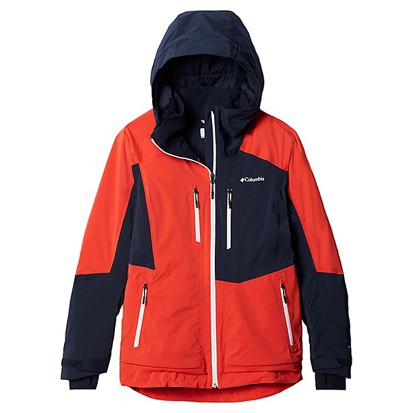 Columbia Wild Card Womens Insulated Ski Jacket 2021, Bold Orange-Dark Nocturnal, 600