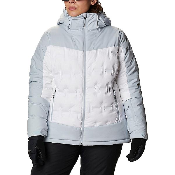 Columbia Wild Card Down Womens Insulated Ski Jacket 2022, White-Cirrus Grey, 600