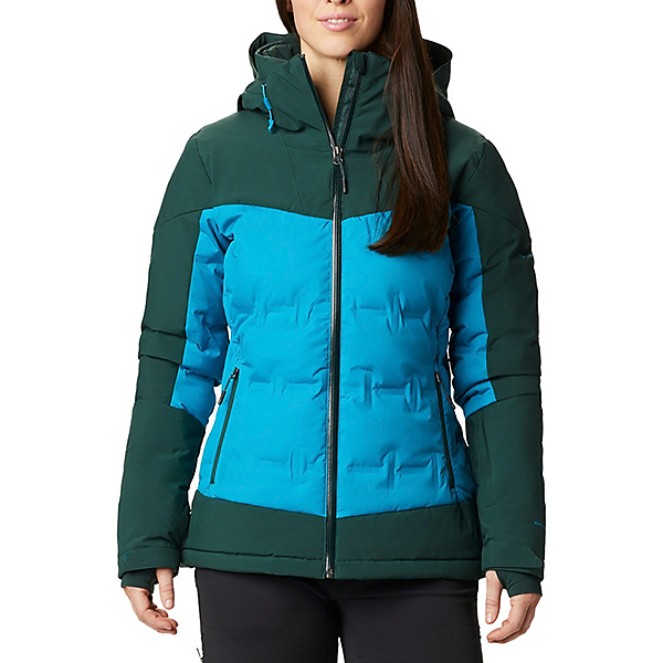 Columbia Wild Card Down Womens Insulated Ski Jacket 2021, Fjord Blue-Spruce, 600