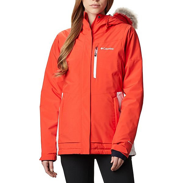 Columbia Ava Alpine Womens Insulated Ski Jacket 2021, Bold Orange-White, 600