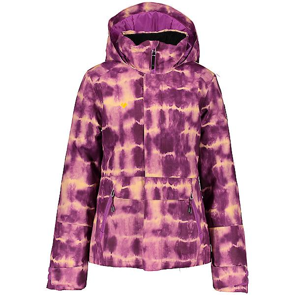 Obermeyer Taja Print Girls Ski Jacket 2021, Tie Da!, 600