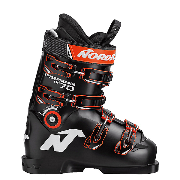 Nordica Dobermann GP 70 Junior Race Ski Boots 2020, Black, 600