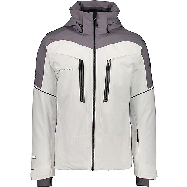 Obermeyer Charger Mens Insulated Ski Jacket, White, 600