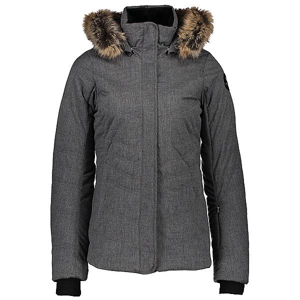 Obermeyer Tuscany II Faux Fur Womens Insulated Ski Jacket 2021, Charcoal, 600