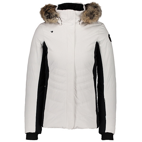 Obermeyer Tuscany II Faux Fur Womens Insulated Ski Jacket 2021, White, 600