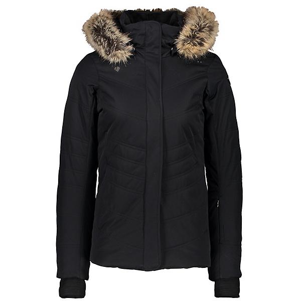 Obermeyer Tuscany II Faux Fur Womens Insulated Ski Jacket 2021, Black, 600