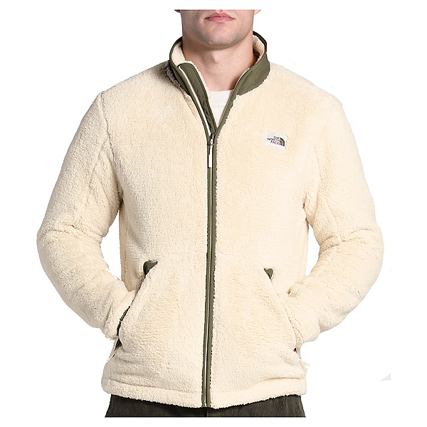 The North Face Campshire Full Zip Mens Jacket, Bleached Sand-Burnt Olive Gree, 600