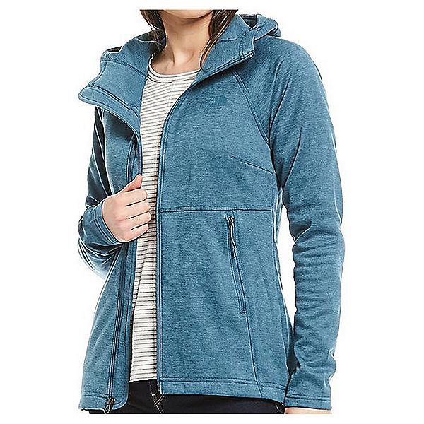The North Face Canyonlands Womens Full Zip Hooded Jacket, Mallard Blue Heather, 600