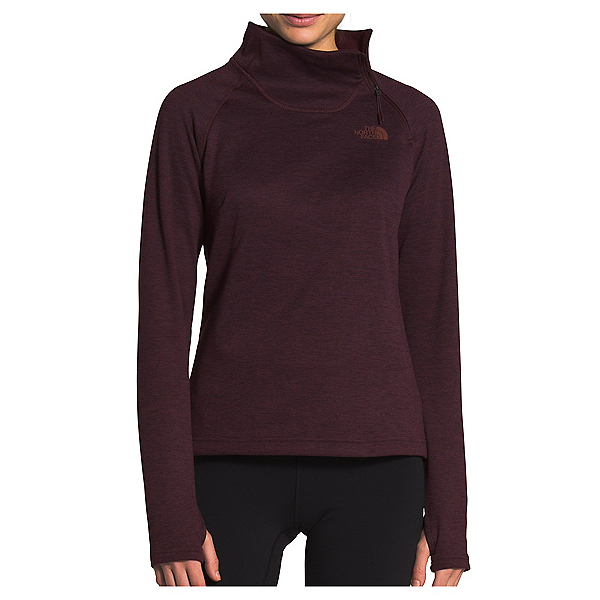 The North Face Canyonlands 1/4 Zip Womens Mid Layer, Root Brown Heather, 600