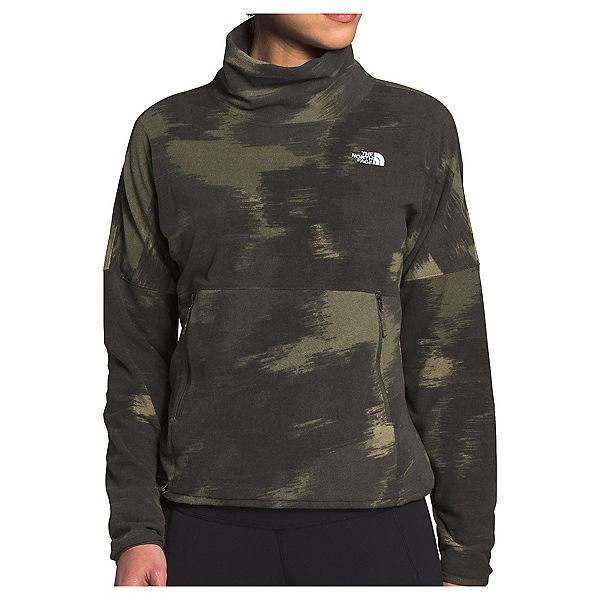 The North Face TKA Glacier Funnel Neck Womens Mid Layer, New Taupre Green Vapor Ikat Pr, 600