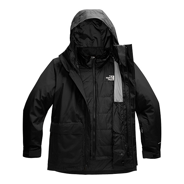 The North Face Clement Triclimate Mens Insulated Ski Jacket, TNF Black, 600