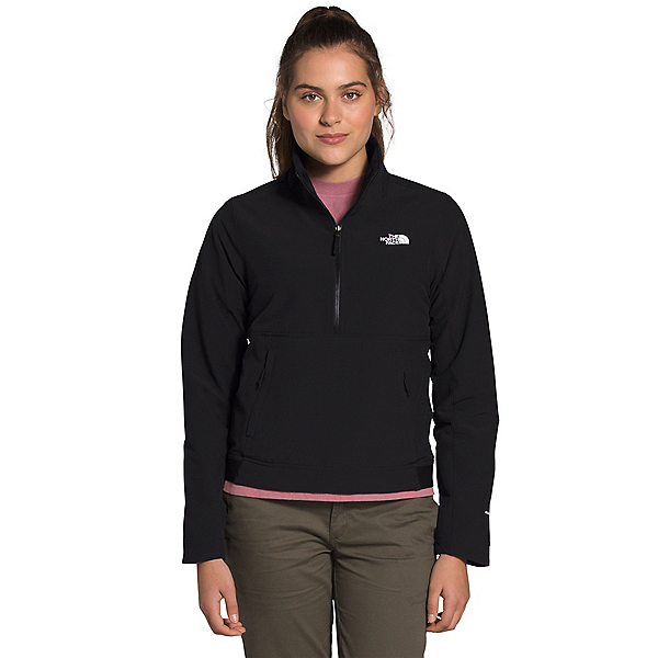 The North Face Shelbe Raschel Pullover Womens Soft Shell Jacket, TNF Black, 600