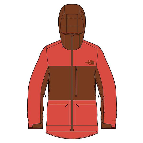 The North Face Sickline Mens Shell Ski Jacket, Flare-Brandy Brown, 600