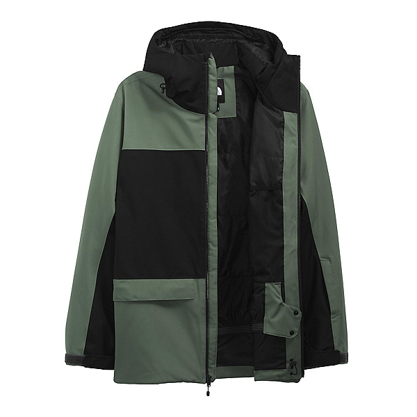 The North Face Sickline Mens Insulated Ski Jacket 2022, Thyme-TNF Black, 600