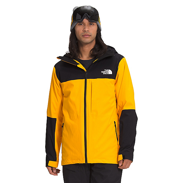 The North Face Thermoball Eco Snow Triclimate Mens Insulated Ski Jacket, Summit Gold-TNF Black, 600