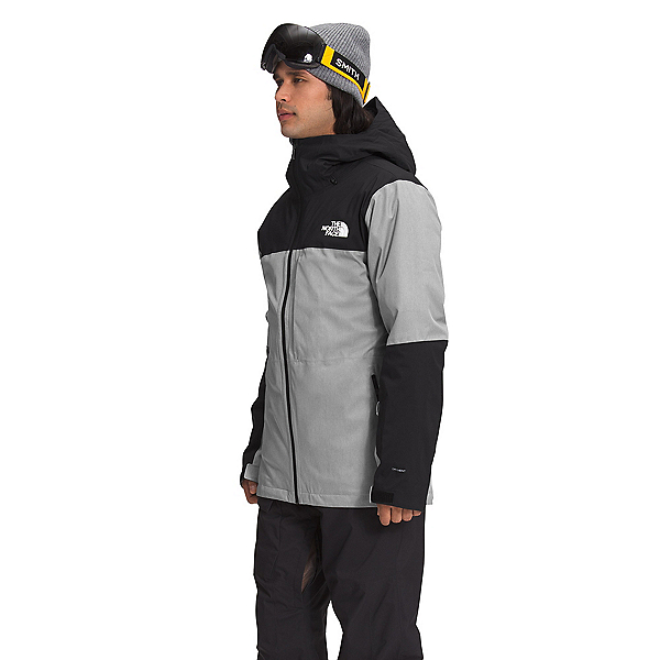 The North Face Thermoball Eco Snow Triclimate Mens Insulated Ski Jacket, TNF Medium Grey Heather-TNF Bl, 600