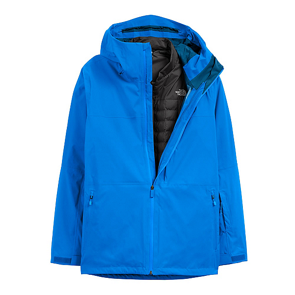 The North Face Thermoball Eco Snow Triclimate Mens Insulated Ski Jacket 2022, Hero Blue-TNF Black, 600