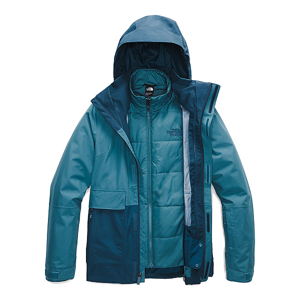The North Face Garner Triclimate Womens Insulated Ski Jacket, Mallard Blue-Blue Wing Teal-Ma, 600
