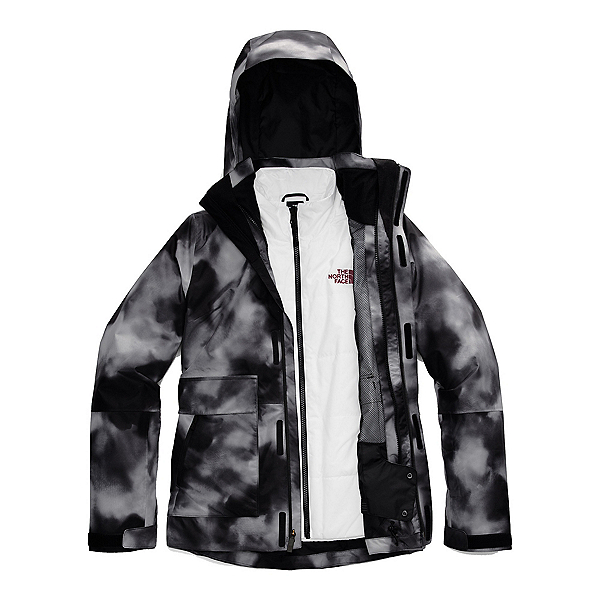 The North Face Garner Triclimate Womens Insulated Ski Jacket, TNF Black Ink Blur Print-TNF B, 600