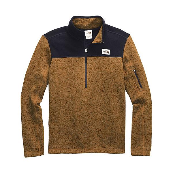 The North Face Gordon Lyons 1/4 Zip Mens Sweater, Timber Tan Dark Heather-Aviato, 600