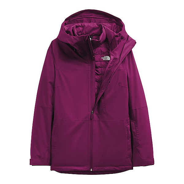 The North Face Thermoball Eco Snow Triclimate Womens Insulated Ski Jacket 2022, Pamplona Purple-Pamplona Purple Marble Camo Print, 600