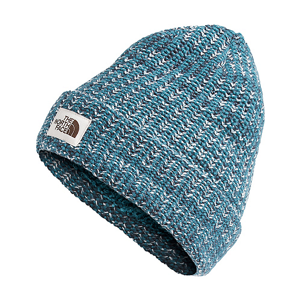 The North Face Salty Bae Beanie Womens Hat, Mallard Blue, 600