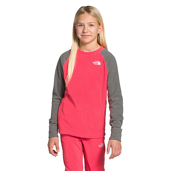 The North Face Glacier Crew Girls Midlayer, Paradise Pink, 600