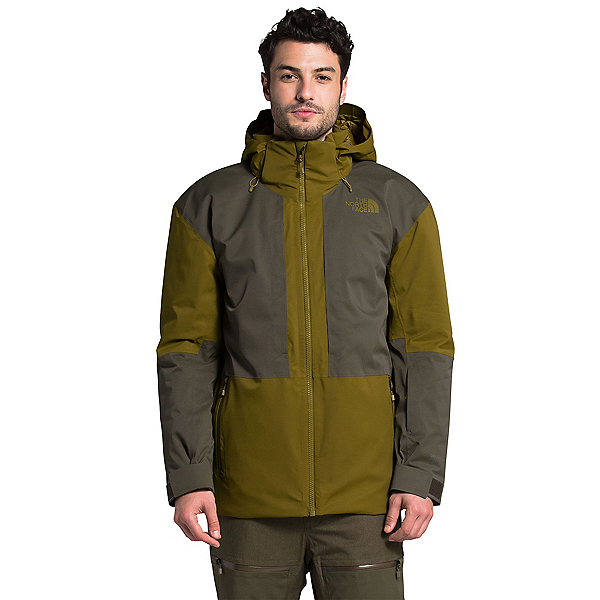 The North Face Chakal Mens Insulated Ski Jacket, Fir Green-New Taupe Green, 600